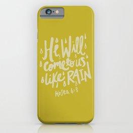 Hosea 6: 3 x Mustard iPhone Case