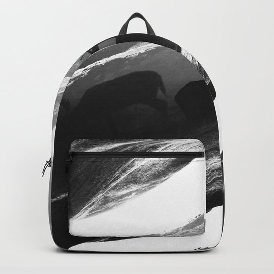 Oh Deer Black Backpack
