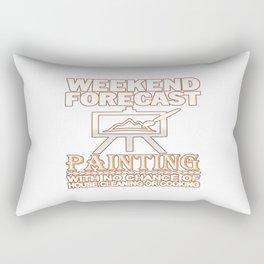 WEEKEND FORECAST PAINTING Rectangular Pillow