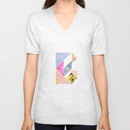 Collaged Tangram Alphabet - B Unisex V-Neck