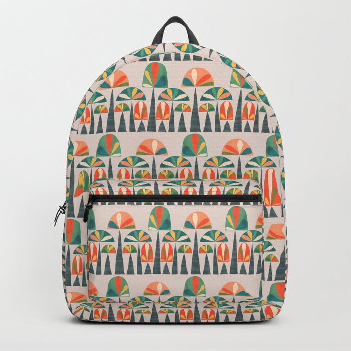 Quirky retro palm trees Backpack