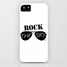 Rock the Sky Aviator Glasses Logo iPhone Case