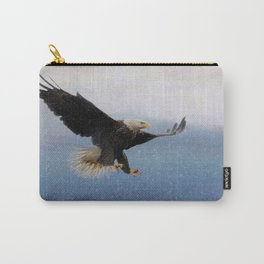 Snowy Flight - Bald Eagle Carry-All Pouch