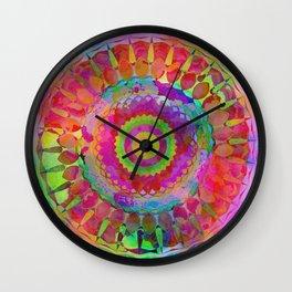 Plasma Fiesta Kaleidoscope Wall Clock