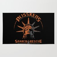 discount Area & Throw Rugs featuring Snake Plissken's Search & Rescue Pty. Ltd. by 6amcrisis