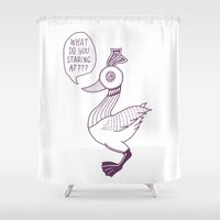 birdy Shower Curtains featuring Birdy by TylerDude