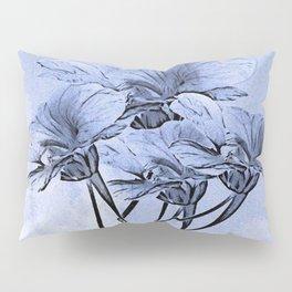 Painterly Blue Floral Pillow Sham