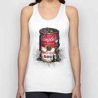 vegetable Tank Tops featuring Cream of Vegetable by Daryll Peirce