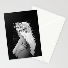 The Girl With The White Hair Stationery Cards
