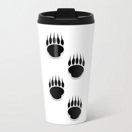 Black Bear Paw Prints Travel Mug