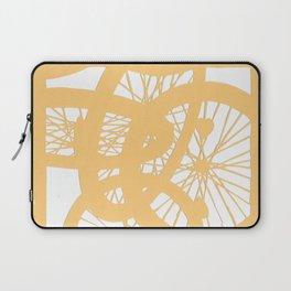 Bike wheels in yellow Laptop Sleeve