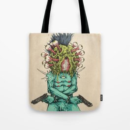 Eye-Pop Assassin Tote Bag