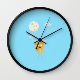 light bulb switch on the moon Be7r4 Wall Clock