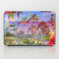 hawaiian iPad Cases featuring HAWAIIAN ESCAPE  by Lauren Taylor Creations