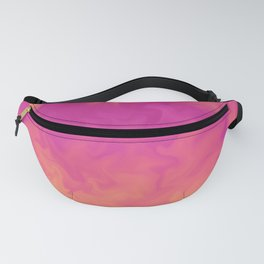 abstract colorful gradient watercolor blurry background Fanny Pack