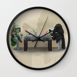 Star Poker Game Wall Clock