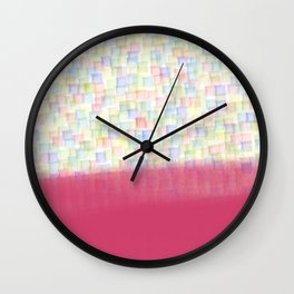 AbstracT squares Wall Clock