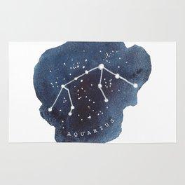 aquarius constellation zodiac Rug