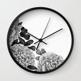 Flowers in the morning Wall Clock