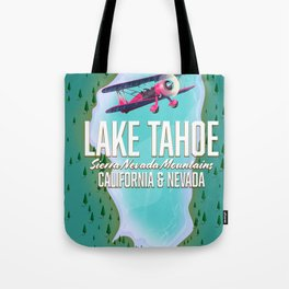 Lake Tahoe map Tote Bag