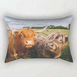 Highland Cows - Blep Rectangular Pillow