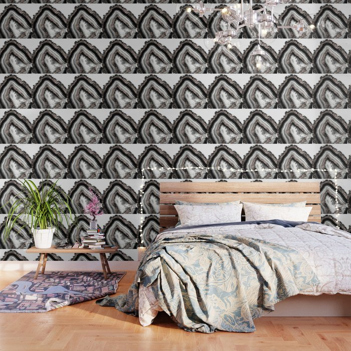 Agate Rose Gold Glitter Glam #4 #gem #decor #art #society6 Wallpaper