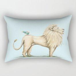 Leo Lion & Bird Rectangular Pillow
