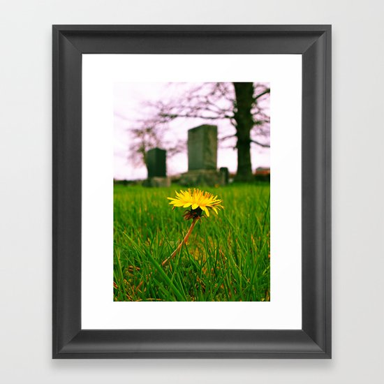 Sign of spring Framed Art Print