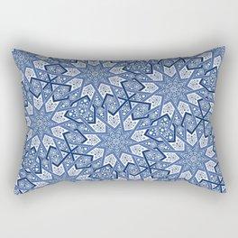 Nine Fold pattern blue Rectangular Pillow