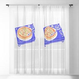 Pizza Scratch Sheer Curtain