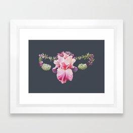 Floral Uterus Framed Art Print