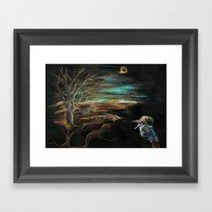 kookaburra sits in the old gum tree Framed Art Print