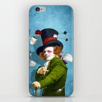 mad hatter iPhone & iPod Skins featuring Mad Hatter by Diogo Verissimo