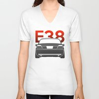 bmw V-neck T-shirts featuring BMW E38 by Vehicle