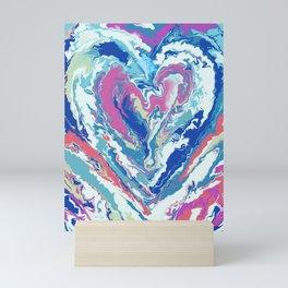 Marble Heart Mini Art Print