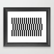 Black & White Triple Stripe Framed Art Print