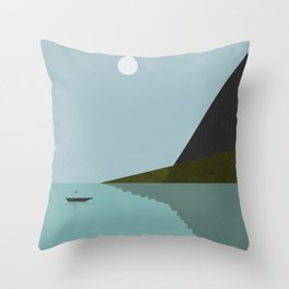 Sailing at night Throw Pillow