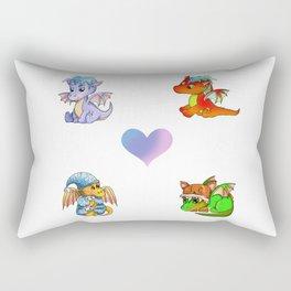 baby dragon sticker pack 1 Rectangular Pillow