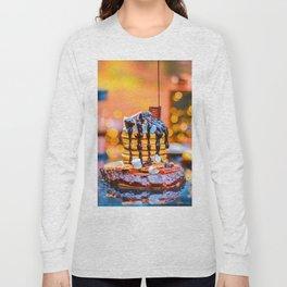 Chocolate Smores Pancakes at a Cabin Long Sleeve T-shirt