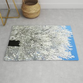 Trees Snow White Rug