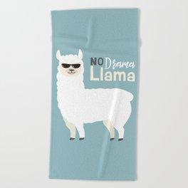 NO DRAMA LLAMA Beach Towel