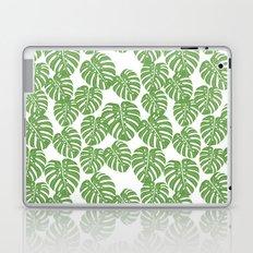 Monstera leaf tropical pattern minimal botanical design by andrea lauren Laptop & iPad Skin