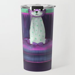Elegant Cat turquoise Travel Mug