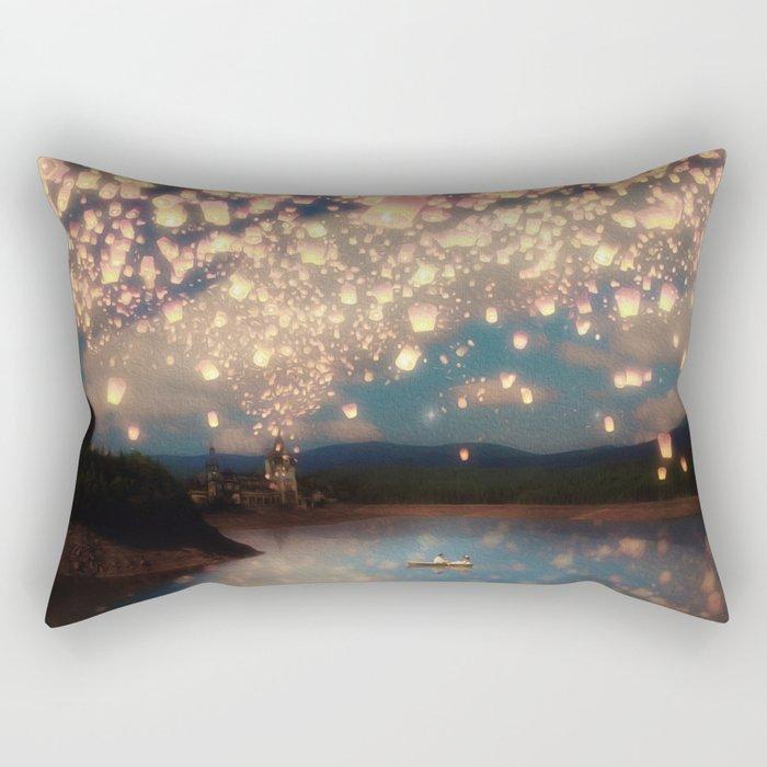 Love Wish Lanterns Rectangular Pillow