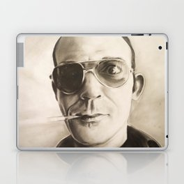 Hunter S. Thompson Portrait in Charcoal Laptop & iPad Skin