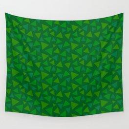 animal crossing floor patterns tri deep Green Wall Tapestry