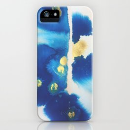 Cool Blues N Gold iPhone Case