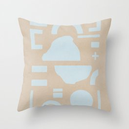 Flat lay minimal shapes Throw Pillow