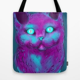 Violet neon Cat Tote Bag
