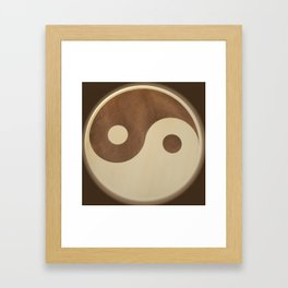 Jin Jang wooden marquetry picture art Framed Art Print